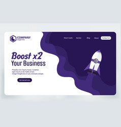 Boost business website landing page template vector