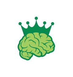 brain abstract king icon logo vector image