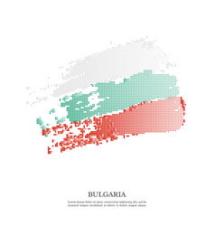 bulgaria flag with halftone effect vector image