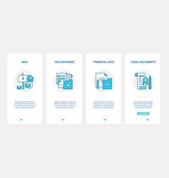 Business office file data exchange transfer ux vector