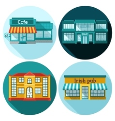 Cafe Flat Set vector image