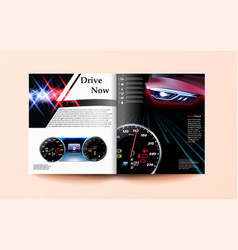 Car and driver magazine template speedometer vector