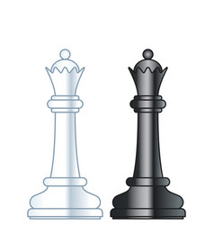 chess queens vector image