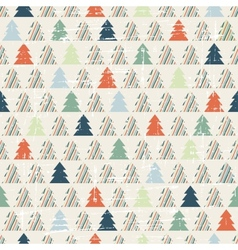 Christmas and Holidays seamless pattern with tree vector image