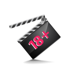 Clapper board adults only isolated on white vector image
