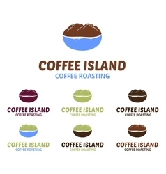 Coffee Island Logo vector image