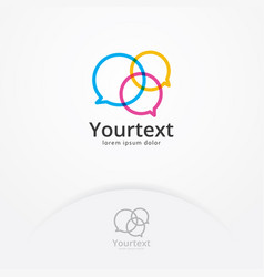 Communication logo vector