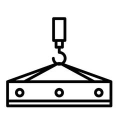 crane hook platform icon outline style vector image