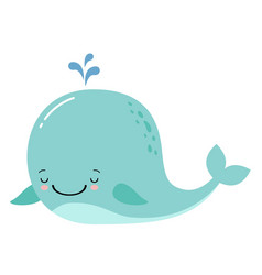cute amusing whale prints image vector image