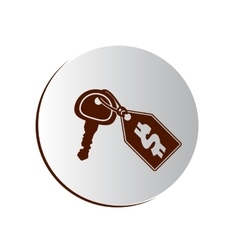 Degraded button with key and price tag vector