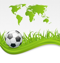 Football card with ball for Brazil 2014 vector