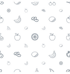 Fruit icons pattern seamless white background vector