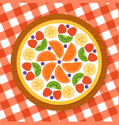 Fruit pizza for party vector