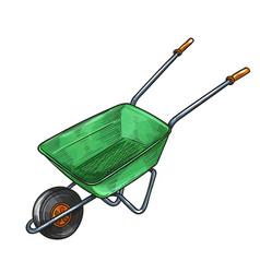 garden wheelbarrow vector image