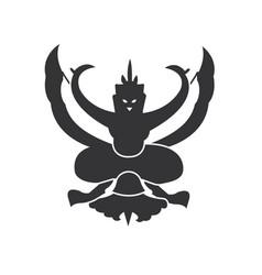 garuda emblem logo simple thailand vector image