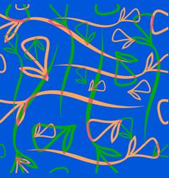 Geometric pastel pattern from vegetative peach vector