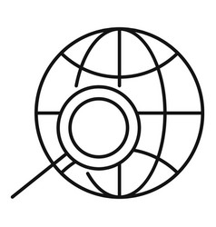 Global smm icon outline style vector