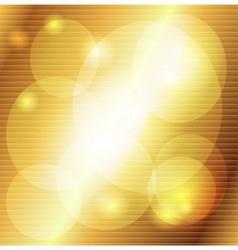 Golden striped decorative background vector