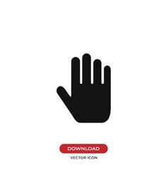 hand icon stop symbol vector image