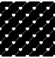 Heart white on line seamless pattern vector