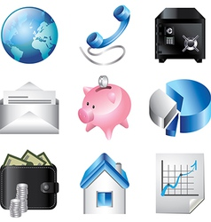 icons business communication vector image