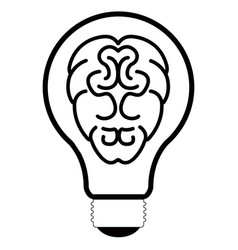 isolated lightbulb outline vector image