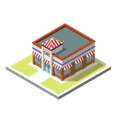 isometric icon infographic 3d building vector image