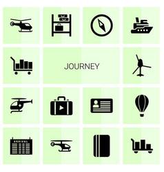 Journey icons vector