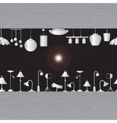 Lighting in showroom eps10 vector