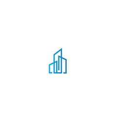Line building company logo vector