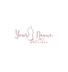 Mannequin logo fashion logo line art design vector