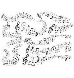 musical notes music note swirl melody pattern vector image