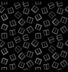 open book seamless pattern with black vector image