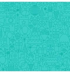 Party Mint Line Tile Pattern vector