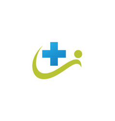 people cross medical logo vector image