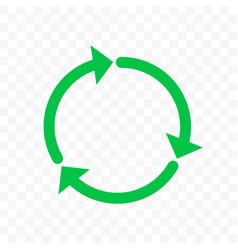 recycling icon arrow symbol eco waste reuse cycle vector image
