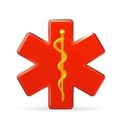 rod asclepius emblem vector image