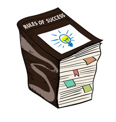 Rule of success book vector