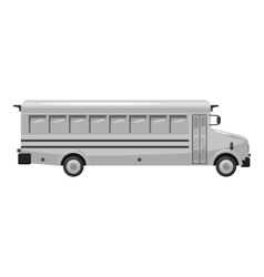 School bus icon gray monochrome style vector