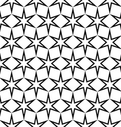 Seamless black and white star pattern vector image