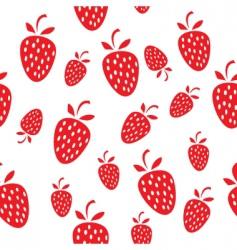 Seamless strawberry vector