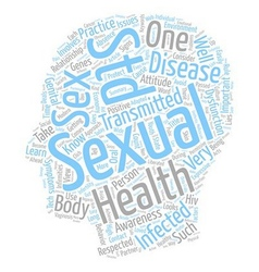 Sexual Health Awareness and You text background vector