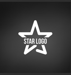 star logo template isolated on black background vector image
