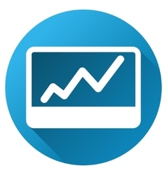 Stock Market Chart Gradient Round Icon vector