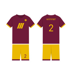 t-shirt sport design template for soccer jersey vector image