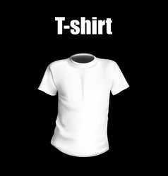 T-shirt with black background vector
