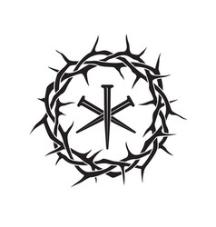 Thorn crown icon vector
