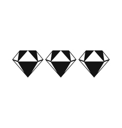 Three diamonds icon vector image