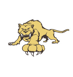 tiger cartoon character vector image