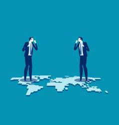 Trade war business finance and economic war vector